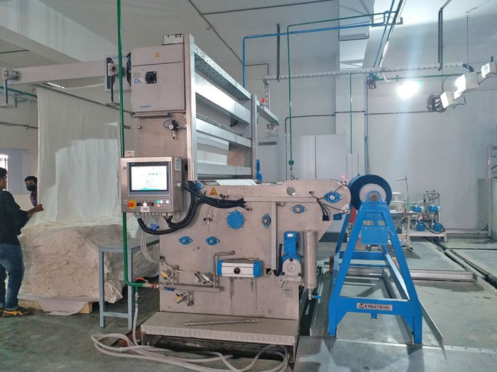 Figure 5: Cold pad-batch (CPB) dye padder from Erbatech in operation in Tosrifa Industries Ltd.